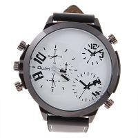 Oulm 欧蕾品牌手表 的男人石英手表表盘黑色 橙色白色 大方