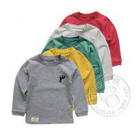 金冠店选择 G&M 14秋冬 男女童小恐龙磨毛加厚打底衫长袖T恤0.1