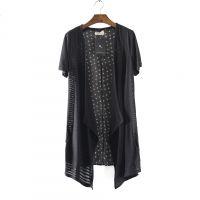 L62夏装新款大码女装夏装2014短袖薄外套防晒衣长款雪纺披肩开衫