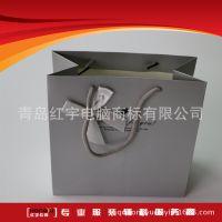 覆膜白卡手提纸袋购物礼品袋牛皮纸袋温州厂家
