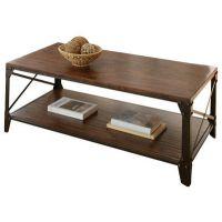 美式乡村铁艺休闲桌 复古做旧茶几边桌 创意简约方形实木桌子