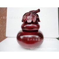 厂家批发 红木雕刻 实木制葫芦钱罐 木质创意存钱罐 葫芦工艺品