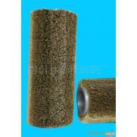 供应各种型号镀铜钢丝辊刷 不锈钢丝条刷  不锈钢丝工业毛刷