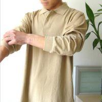 2014新款 男式t恤翻领加厚纯色青年长袖polo衫男装 服装加工