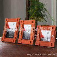 欧式仿古实木相框 复古创意家居照片框复古欧式集装箱相框摆件