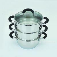 供应高档优质三层蒸煮厨具 多层节能蒸锅 新款多功能不锈钢礼品锅