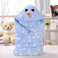 汤博士4065卡通水晶绒婴儿抱被 抱毯 超柔软新生儿包被 0.45