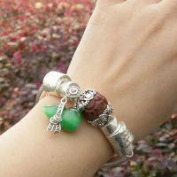 手链990纯银手镯泰银马克赛葫芦小叶紫檀莲花多宝