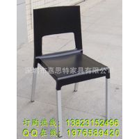 厂家供应出口质量的塑料椅子 铝脚塑胶椅 美观大方酒店餐厅餐椅