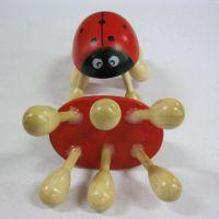 甲虫按摩器 实木头部穴位按摩器 木制六脚颈椎按摩器 全身按摩器