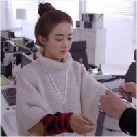 赵丽颖同款毛衣 杉杉来了2014 秋冬明星新款蝙蝠袖针织百搭外套