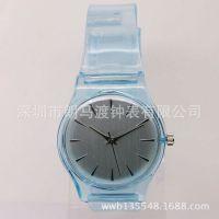 厂家供应石英表 塑胶透明PVC手表小清新森女软妹表