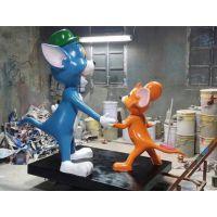 供应重庆玻璃钢厂家定做 迪士尼卡通雕塑 猫和老鼠卡通雕塑 玻璃钢卡通雕塑厂家