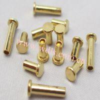 供应H65黄铜铆钉 H70黄铜铆钉 半空心铜铆钉 五金紧固件铆钉 黄铜铆钉厂家