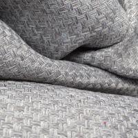 现货供应 草编纹仿麻布 席子纹面料 硬包吸音布 沙发布 宽150
