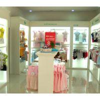 上海童装店展示柜制作 童装店设计 童装店道具制作 木质烤漆童装展柜制作工厂