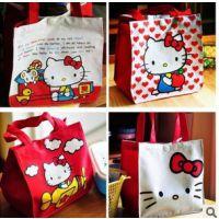 可爱卡通 hello kitty饭盒包 便当包 手拎袋 化妆包 收纳整理袋