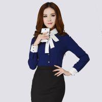 厂家定制韩版女士衬衣白衬衫长袖春夏装正装新款女装修身打底衫潮