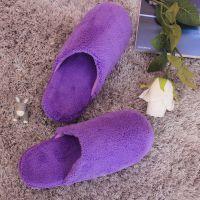 2014秋冬新品家居保暖女士大码拖鞋 批发特价 珊瑚绒室内鞋