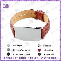 不锈钢健康时尚皮革手链