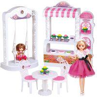 【分销/批发】正品乐吉儿蛋糕花店组合芭比娃娃套装A009