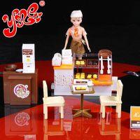 乐吉儿正品芭比配件娃娃梦幻面包屋女孩早教玩具过家家套装礼品