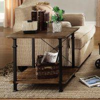 美式乡村LOFT工业风格实木桌子角几方桌咖啡桌铁艺复古做旧茶几