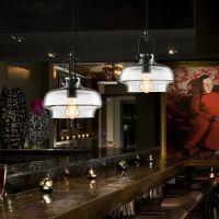 Loft美式乡村咖啡厅餐厅吊灯 工业复古酒吧台吊灯具 创意玻璃吊灯
