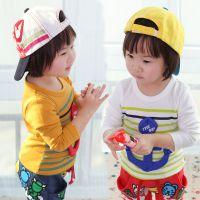 2014热卖春季新款童装 儿童韩版潮款 男童女童卡通长袖T恤打底衫
