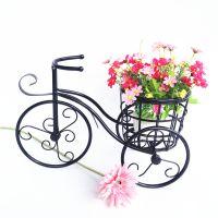 厂家直销 铁艺自行车小花架 办公桌装饰品 小花车婚庆摆件品 道具