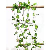 幼儿园教室天花板布置装饰藤条串*藤蔓绿叶花藤壁挂*仿真西瓜叶