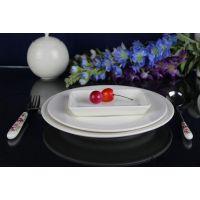 酒店批发餐具陶瓷盘家用细纹碟子菜盘陶瓷西餐盘厨房餐厅牛排盘子