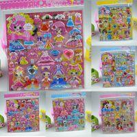 聚美贴纸厂家低价直销热销3d立体人物儿童帖纸 卡通双层换装泡泡不干胶贴纸