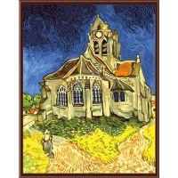 4050数字油画 客厅挂画 多尺寸定制数字油画贴牌 奥维尔的教堂