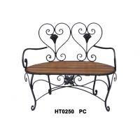 供应新款铁配木板情侣双人公园椅/休闲木板椅子/户外庭院家具摆件
