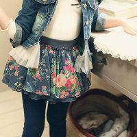 女童夏季韩版小碎花半身裙短裙 儿童蛋糕裙网纱蓬蓬裙一件代发
