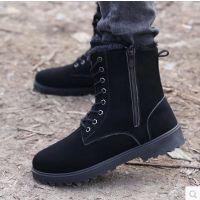 秋冬季新款男士马丁靴休闲高帮工装靴耐磨男军靴 批发代理