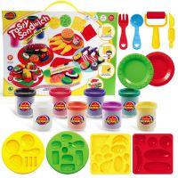 8023-41汉堡8色装3d彩泥套装 益智超轻粘土 儿童益智玩具橡皮泥