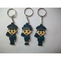 厂家供应韩版3D平面钥匙扣 卡通动漫人物钥匙扣 批发