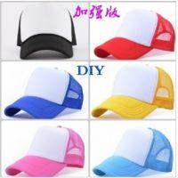 网帽手绘帽男女个性团体定制空白光板logo广告帽子定做货车帽