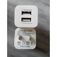 双USB充电器.三代扣壳充电器.四代充头.足1A物廉价美