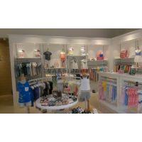 欧式童装专店中岛展示柜 优质烤漆服装陈列架 高档货架中岛柜展柜