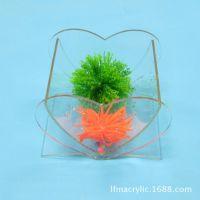 深圳有机玻璃厂家直销有机玻璃小型桌面可爱丽鱼缸 亚克力鱼缸