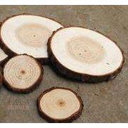 江桥竹藤生态装饰木片厂批发定做各种生态原木片 天然实木片 圆木片