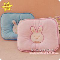 批发 宝宝床上用品 可爱小兔子绣花枕 天鹅绒婴儿定型枕头 0.1