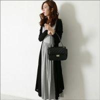 新款秋冬装韩版长款两件套连衣裙子 孕妇连衣裙 长裙配开衫 131