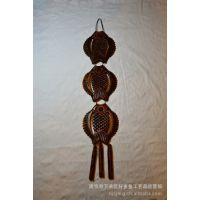 木质工艺品灯笼鱼 挂件, 桃木手工雕刻, 年年有余