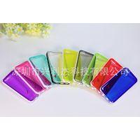 供应苹果iphone5C手机套 彩色全透明TPU保护套壳 装饰边超薄手机外壳