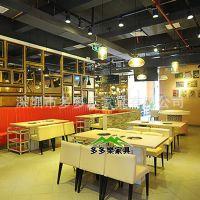 哪里有进口防火板火锅餐桌供应 钢化玻璃火锅桌隐藏式火锅桌