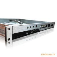 1U430LB机房监控主机 嵌入式1U工控机箱 铝合金面板防火墙机箱